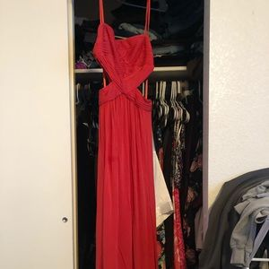BCBG Max Azria coral formal cocktail dress